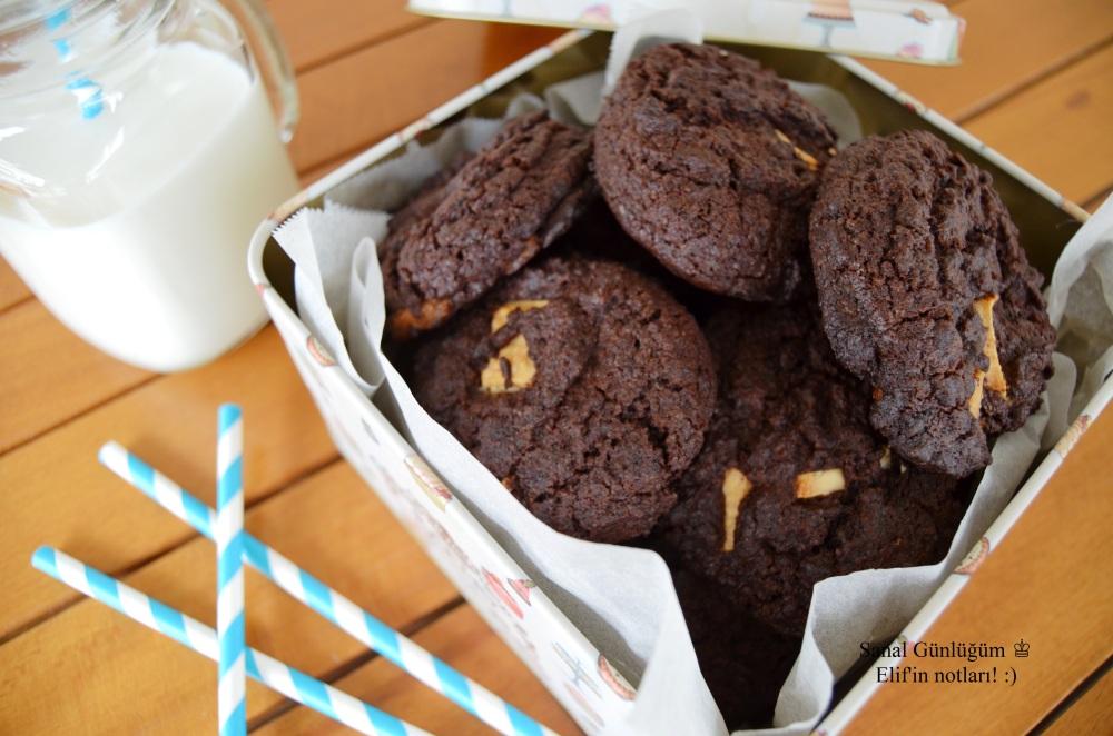 Beyaz Çikolatalı Kahveli Kurabiye
