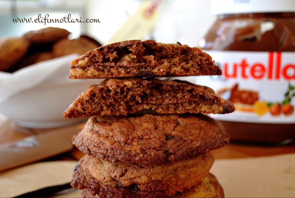 Nutella Ve Damla Çikolatalı Kurabiye
