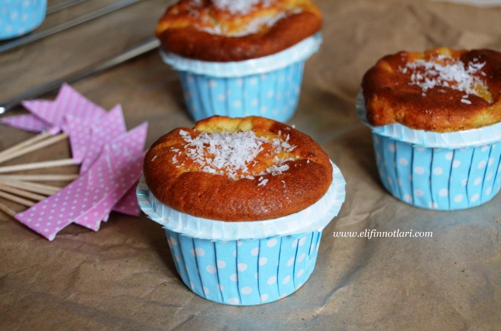 Portakallı ve Ananaslı Muffin