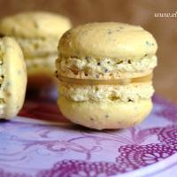 >Limonlu Macaron, Haşhaşlı ve Limonlu Beyaz Çikolatalı Ganajla