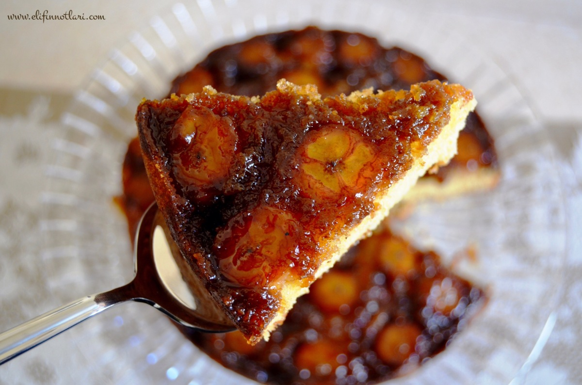 >Karamelize Muzlu Kek